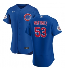Men Chicago Cubs 53 Jose Martinez Men Nike Royal Alternate 2020 Flex Base Player Jersey