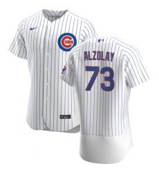 Men Chicago Cubs 73 Adbert Alzolay Men Nike White Home 2020 Flex Base Player Jersey