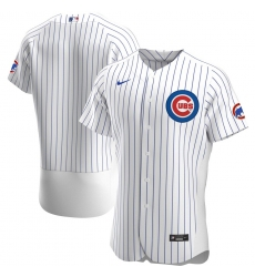 Men Chicago Cubs Men Nike White Home 2020 Flex Base Official Team MLB Jersey