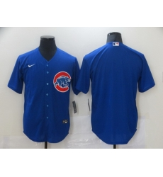 Men Nike Chicago Cubs Blue Blank Cool base Jersey