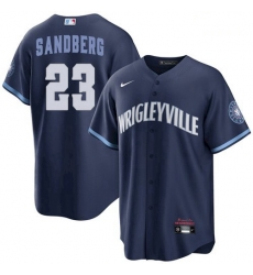 Youth Ryne Sandberg Chicago Cubs Wrigleyville 2021 City Connect Jersey