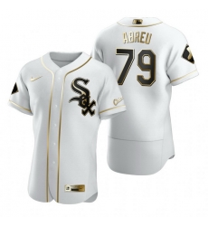 Chicago White Sox 79 Jose Abreu White Nike Mens Authentic Golden Edition MLB Jersey