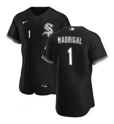 Men Chicago White Sox 1 Nick Madrigal Men Nike Black Alternate 2020 Flex Base Player MLB Jersey