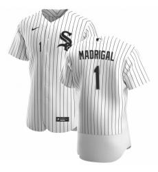 Men Chicago White Sox 1 Nick Madrigal Men Nike White Home 2020 Flex Base Player MLB Jersey