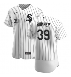 Men Chicago White Sox 39 Aaron Bummer Men Nike White Home 2020 Flex Base Player MLB Jersey