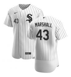 Men Chicago White Sox 43 Evan Marshall Men Nike White Home 2020 Flex Base Player MLB Jersey
