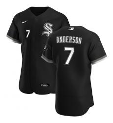 Men Chicago White Sox 7 Tim Anderson Men Nike Black Alternate 2020 Flex Base Player MLB Jersey