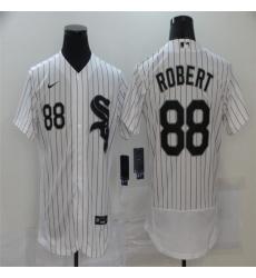 Men Chicago White Sox 88 Luis Robert White 2020 Nike Flexbase Jersey