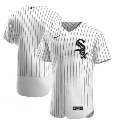 Men Chicago White Sox Men Nike White Home 2020 Flex Base Official Team MLB Jersey