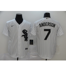 Men Nike Chicago White Sox 7 Tim Anderson Cool Base Stitched MLB Jersey
