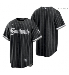 Men's Chicago White Sox Blank 2021 City Connect Black Southside Jersey