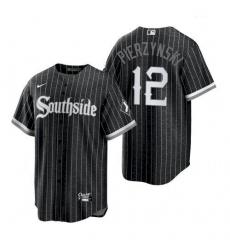 Men's Chicago White Sox Southside AJ Pierzynski Black Replica Jersey