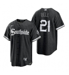 Men's Chicago White Sox Southside George Bell Black Replica Jersey