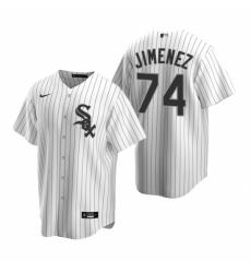 Mens Nike Chicago White Sox 74 Eloy Jimenez White Home Stitched Baseball Jersey