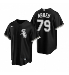 Mens Nike Chicago White Sox 79 Jose Abreu Black Alternate Stitched Baseball Jerse