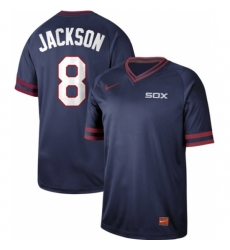 Mens Nike Chicago White Sox 8 Bo Jackson Navy Authentic Cooperstown Collection Stitched Baseball Jersey