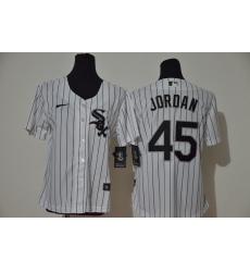 Women White Sox 45 Michael Jordan White Women 2020 Nike Cool Base Jersey