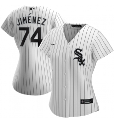 Chicago White Sox 74 Eloy Jimenez Nike Women Home 2020 MLB Player Jersey White