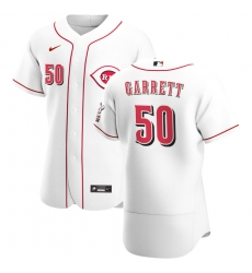 Men Cincinnati Reds 50 Amir Garrett Men Nike White Home 2020 Flex Base Player MLB Jersey