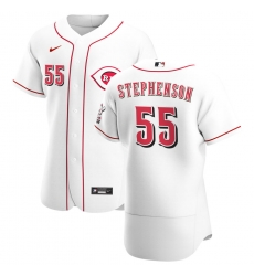 Men Cincinnati Reds 55 Robert Stephenson Men Nike White Home 2020 Flex Base Player MLB Jersey