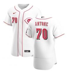 Men Cincinnati Reds 70 Tejay Antone Men Nike White Home 2020 Flex Base Player MLB Jersey
