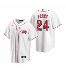 Mens Nike Cincinnati Reds 24 Tony Perez White Home Stitched Baseball Jerse