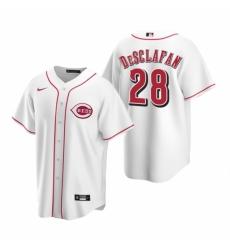 Mens Nike Cincinnati Reds 28 Anthony DeSclafani White Home Stitched Baseball Jerse