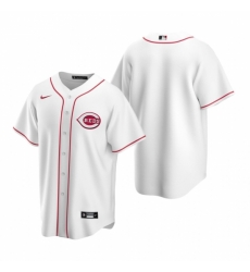 Mens Nike Cincinnati Reds Blank White Home Stitched Baseball Jersey