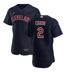Men Cleveland Indians 2 Yu Chang Men Nike Navy Alternate 2020 Flex Base Player MLB Jersey