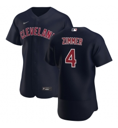 Men Cleveland Indians 4 Bradley Zimmer Men Nike Navy Alternate 2020 Flex Base Player MLB Jersey