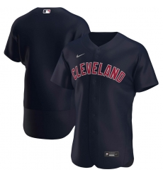 Men Cleveland Indians Men Nike Navy Alternate 2020 Flex Base Logo Team MLB Jersey