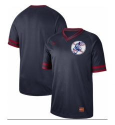 Mens Nike Cleveland Indians Blank Navy Authentic Cooperstown Collection Baseball Jersey