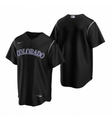 Mens Nike Colorado Rockies Blank Black Alternate Stitched Baseball Jersey