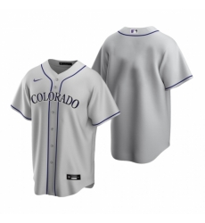Mens Nike Colorado Rockies Blank Gray Road Stitched Baseball Jersey