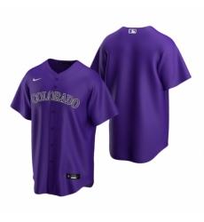 Mens Nike Colorado Rockies Blank Purple Alternate Stitched Baseball Jersey