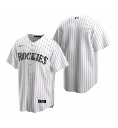 Mens Nike Colorado Rockies Blank White Home Stitched Baseball Jersey