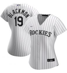 Colorado Rockies 19 Charlie Blackmon Nike Women Home 2020 MLB Player Jersey White