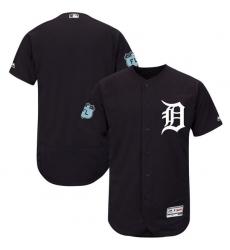 MLB Tigers Blank Orange Blank Cool Base Men Jersey