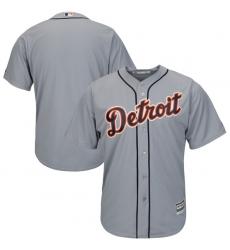 MLB Tigers Blank Orange Grey Cool Base Men Jersey