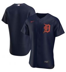 Men Detroit Tigers Men Nike Navy Alternate 2020 Flex Base Team MLB Jersey