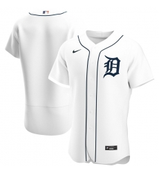 Men Detroit Tigers Men Nike White Home 2020 Flex Base Official Team MLB Jersey