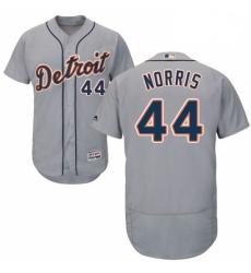 Mens Majestic Detroit Tigers 44 Daniel Norris Grey Road Flex Base Authentic Collection MLB Jersey