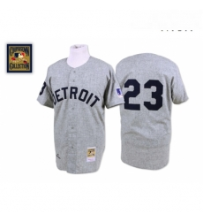 Mens Mitchell and Ness 1969 Detroit Tigers 23 Willie Horton Replica Grey Throwback MLB Jersey
