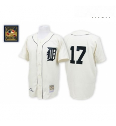 Mens Mitchell and Ness Detroit Tigers 17 Denny Mclain Replica White Throwback MLB Jersey