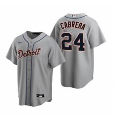 Mens Nike Detroit Tigers 24 Miguel Cabrera Gray Road Stitched Baseball Jerse