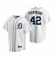 Mens Nike Detroit Tigers 42 Jackie Robinson White Home Stitched Baseball Jersey