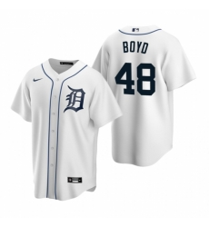 Mens Nike Detroit Tigers 48 Matthew Boyd White Home Stitched Baseball Jersey