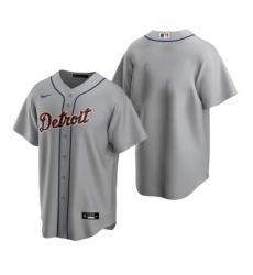 Mens Nike Detroit Tigers Blank Gray Road Baseball Jersey