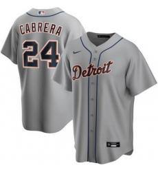 Tigers 24 Miguel Cabrera Gray 2020 Nike Cool Base Jersey