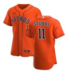 Men Houston Astros 11 Garrett Stubbs Men Nike Orange Alternate 2020 Flex Base Team MLB Jersey